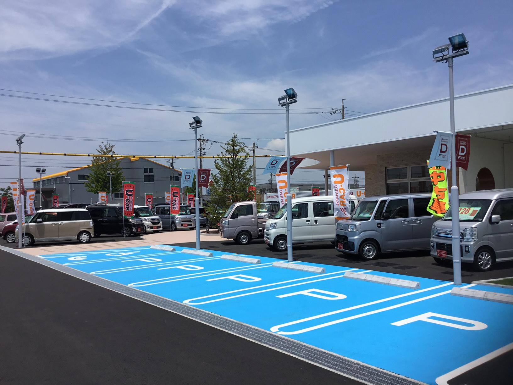 広い駐車場で出入りもしやすい店舗です。